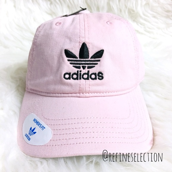e2a9e80f adidas Accessories | Originals Pink Black Relaxed Strapback Cap ...